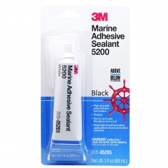 3M 05205 Black 5200 Marine Adhesive Sealant - 3 oz.