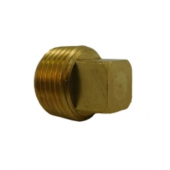 ACR Industries 28-085 Square Head Pipe Plug Fitting, Brass - 1/4 inch