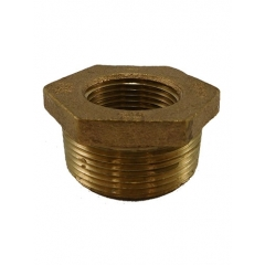 ACR Industries 28-102 Brass Hex Adapter Bushing - 1/4 inch x 1/8 inch