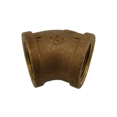 ACR Industries 44-181 Bronze Pipe Elbow Fitting, 45 Degree - 1/4 inch