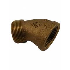ACR Industries 44-201 Bronze Street Elbow Fitting, 45 Degree - 1/4 inch