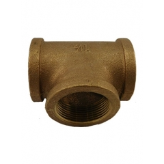 ARC Industries 44-257 Bronze Pipe Tee Coupler Fitting - 1-1/2 inch