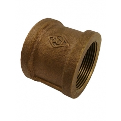 ACR Industries 44-416 Bronze Pipe Coupler Fitting - 1-1/4 inch