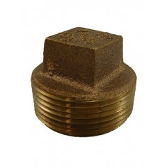 ACR Industries 44-657 Square Head Pipe Plug Fitting, Bronze - 1-1/2 inch