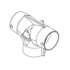 MSI Marine AT444 4 inch x 4 inch x 4 inch Air Divider Adapter