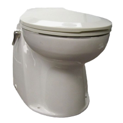 Raritan AVHWR01203 Atlantes Toilet, 12V - Raw Water with Timed Handle Control