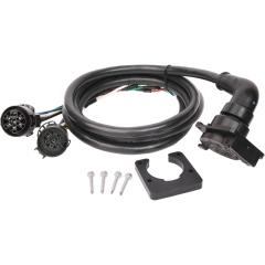 Bargman 51-97-410 5th Wheel Gooseneck 90-Degree Wiring Harness w/ 7 Way Plug - GM, Ford, Ram, Toyota - 9' Long