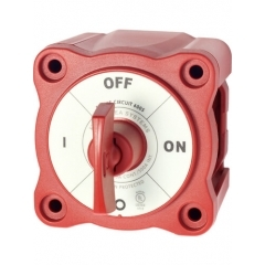 M-Series Mini On-Off Battery Switch with Key - Red