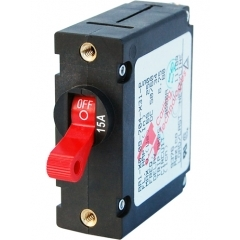 A-Series Red Toggle Circuit Breaker - Single Pole 15A