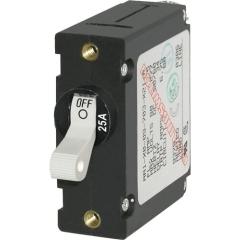 A-Series White Toggle Circuit Breaker - Single Pole 25A