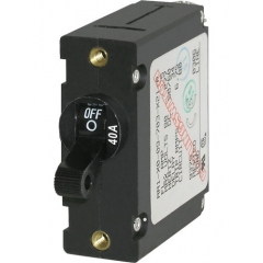 A-Series Black Toggle Circuit Breaker - Single Pole 40A