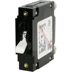 C-Series White Toggle Circuit Breaker - Single Pole 50 Amp