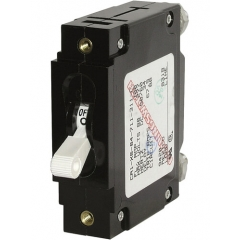 C-Series White Toggle Circuit Breaker - Single Pole 100 Amp