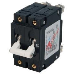 C-Series White Toggle Circuit Breaker - Double Pole 50 Amp