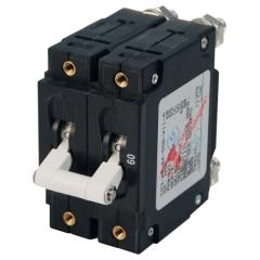 C-Series White Toggle Circuit Breaker - Double Pole 60 Amp