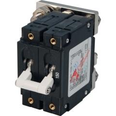 C-Series White Toggle Circuit Breaker - Double Pole 150 Amp