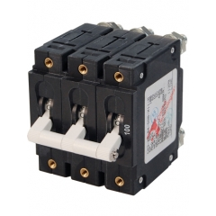 100 Amp C-Series Toggle Triple Pole Circuit Breake
