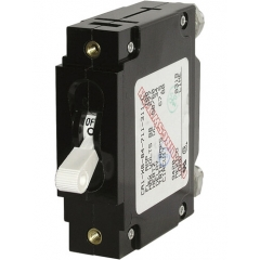 C-Series White Toggle Circuit Breaker - Single Pole 20 Amp