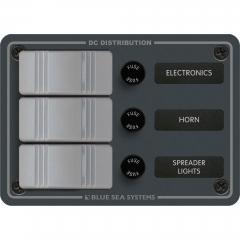 Blue Sea 8054 3 Position Water Resistant Fuse Panel