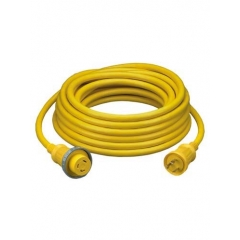 30 Amp 125 Volt Yellow 25-Ft. Shore Power Cable