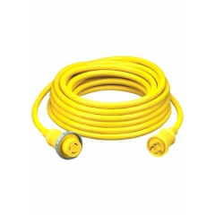 Hubbell HBL61CM08 30 Amp 125 Volt Yellow 50 Foot Shore Power Cable