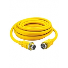 25 Ft. Yellow Shore 50 Amp Cable Set with LED