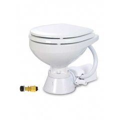 Jabsco 37010-3092 Electric Marine Toilet with Compact Bowl, 12V - Raw Water