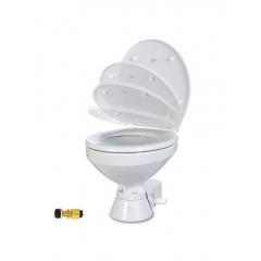 Jabsco 37010-4194 Electric Marine Toilet with Regular Bowl, 24V - Raw Water
