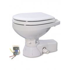 Jabsco 37245-3094 Quiet Flush Marine Toilet with Compact Bowl, 24V - Raw Water