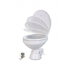 Jabsco 37245-4192 Quiet Flush Marine Toilet with Regular Bowl, 12V - Raw Water