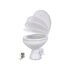 Jabsco 37245-4194 Quiet Flush Marine Toilet with Regular Bowl, 24V - Raw Water
