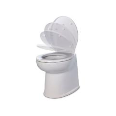 Jabsco 58040-3012 uxe Flush Toilet w/17 in. Vertical Back Bowl, 12V - Fresh Water