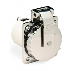 30 Amp 125 Volt Stainless Steel Power Inlet
