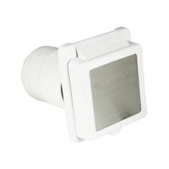50 Amp 125/250 Volt White Power Inlet