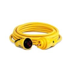 25 ft. 30 Amp 125 Volt Yellow Eel Shore Cordset