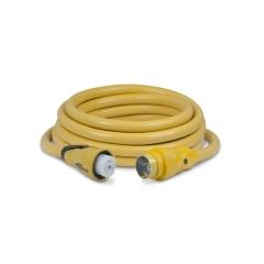 25 ft. 50 Amp 125/250 Volt Yellow Eel Shore Cord