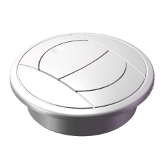 """MSI Marine Systems 3GL-W 3"""" Round Global Style White Plastic Grille"""
