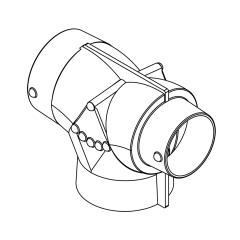 """MSI Marine AT554 5"""" x 5"""" x 4"""" Air Divider Adapter T"""