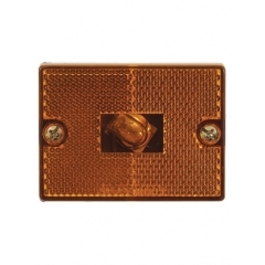 Clearance/Marker Light square, amber, stud-mount