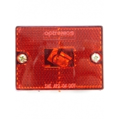 Clearance/Marker Light square, red, stud-mount