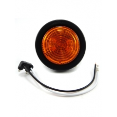 """LED 2.5"""" Marker/Clearance Light Grommet and Pigtail Included Amber, Sealed 2-Diode"""