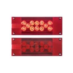 LED Sealed Tail Light low profile, sealed 8-function w/ license illuminator