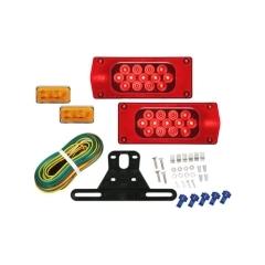 LED Waterproof AERO PRO  Trailer Light Kit w/ side marker lights, over 80