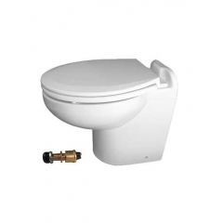 Raritan 220HF02402 Marine Elegance Toilet, 24V - Fresh Water w/Push Button Control
