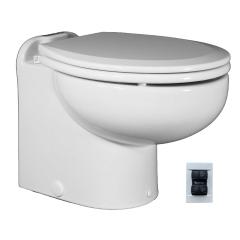 Raritan 221HF01201 Marine Elegance Toilet, 12V - Fresh Water w/Multifunction Control