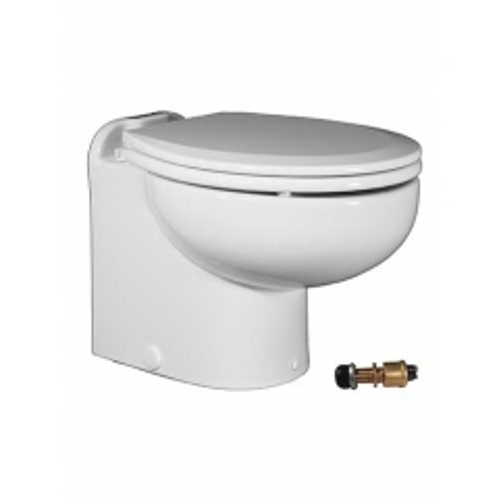 Raritan 221HF01202 Marine Elegance Toilet, 12V - Fresh Water w/Push Button Control