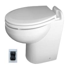 Raritan 230HF01201 Marine Elegance Toilet, 12V - Fresh Water w/Multifunction Control