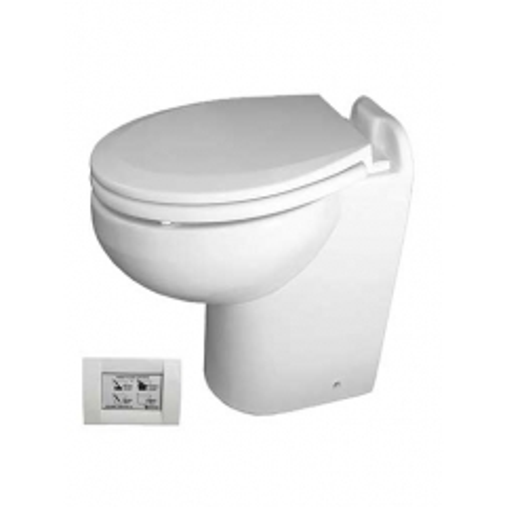Raritan 230HR012 Marine Elegance Toilet, 12V - Raw Water w/STC Control