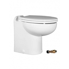 Raritan 231HF01202 Marine Elegance Toilet, 12V - Fresh Water w/Push Button Control