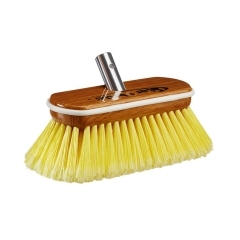 Premium Synthetic Wood Block Soft Yellow Bristle Brush with Bumper - 8 in.  | Star Brite 040170